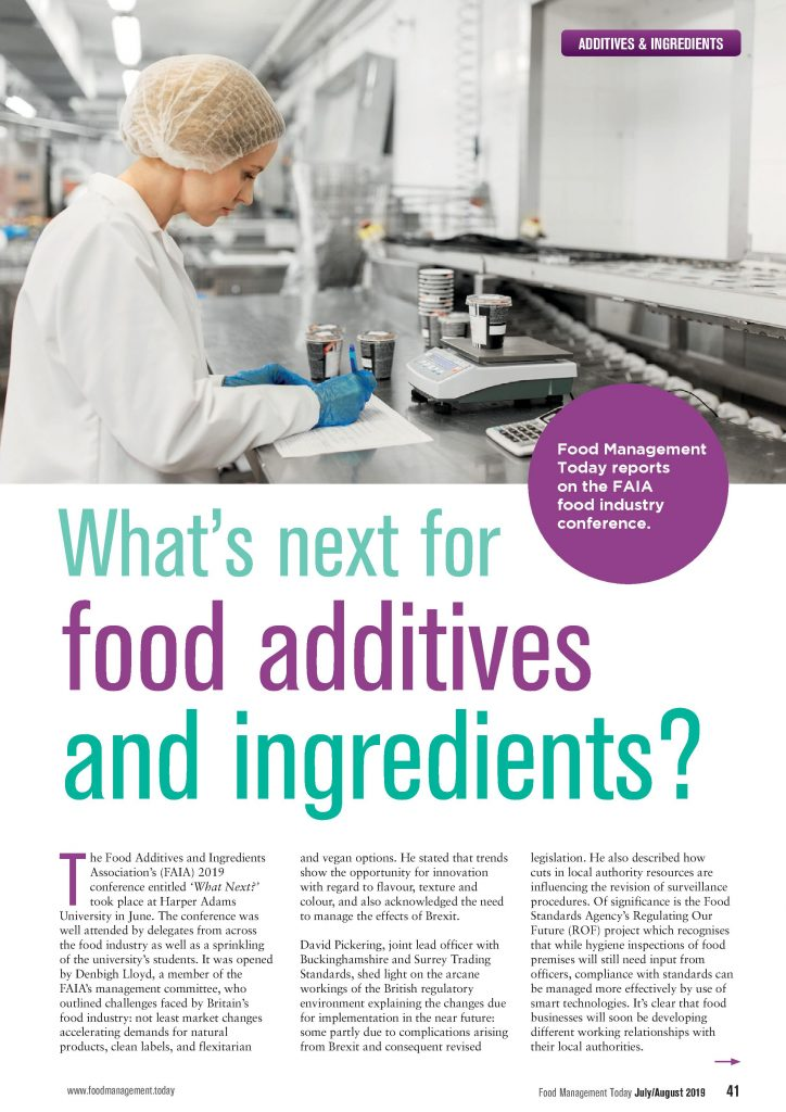 Food Management Today - Additives & Ingredients